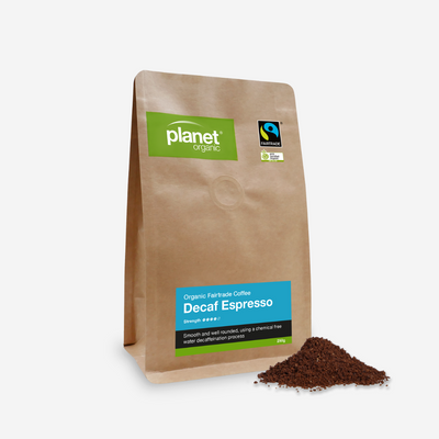 Planet Organic Espresso Decaf Plunger Coffee 250g