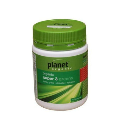 Planet Organic Super 3 Greens Powder 125g