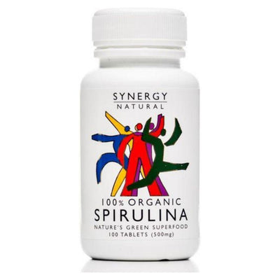 Synergy Natural Organic Spirulina 100 tablets