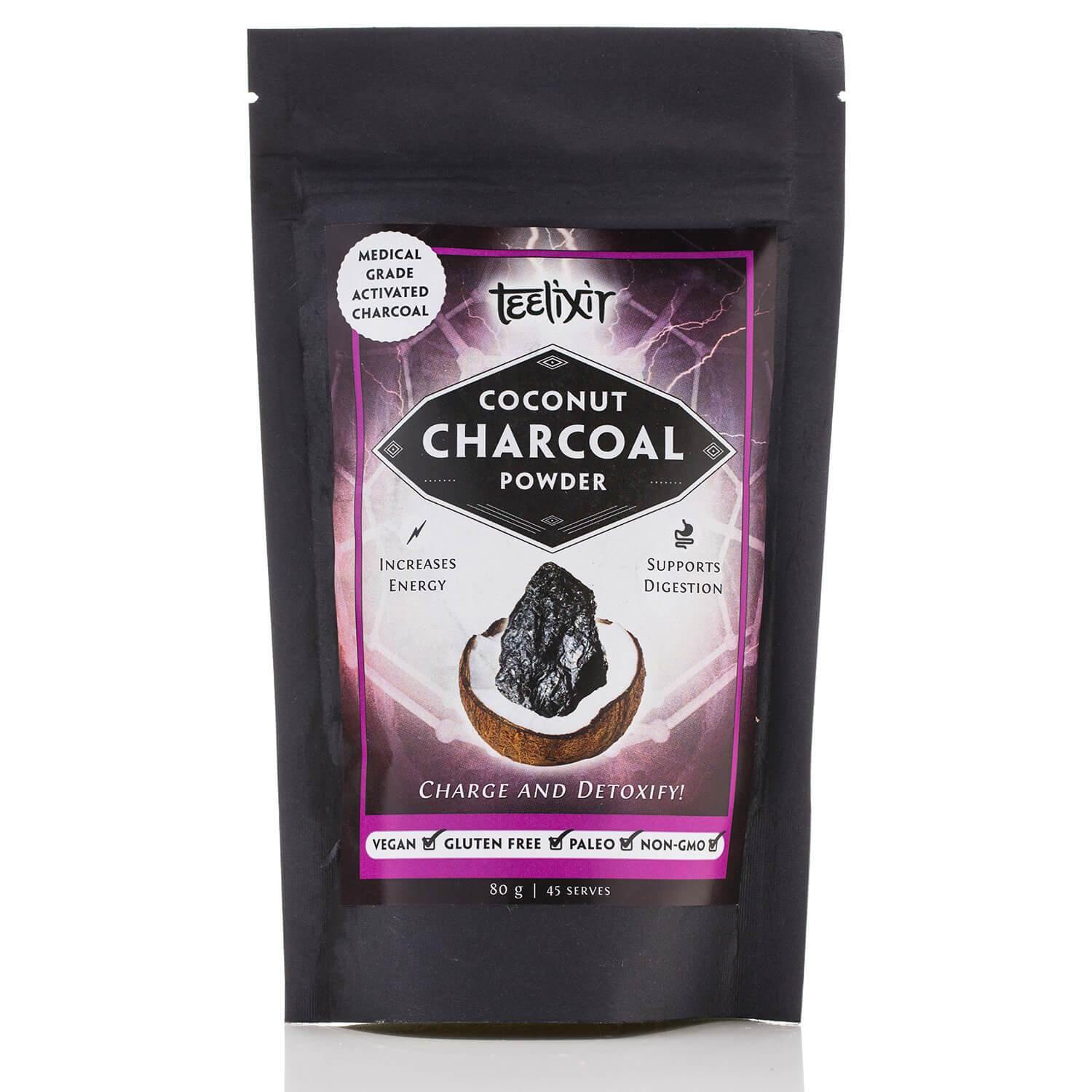 Teelixir Coconut Charcoal (Activated) Powder 80g - EZ Organic Shop