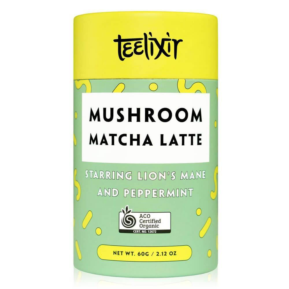 Teelixir Mushroom Matcha Latte with Lion's Mane 60g