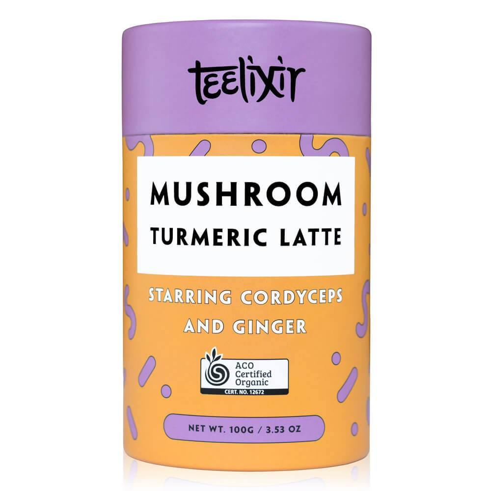 Teelixir Mushroom Turmeric Latte with Cordyceps 100g - EZ Organic Shop