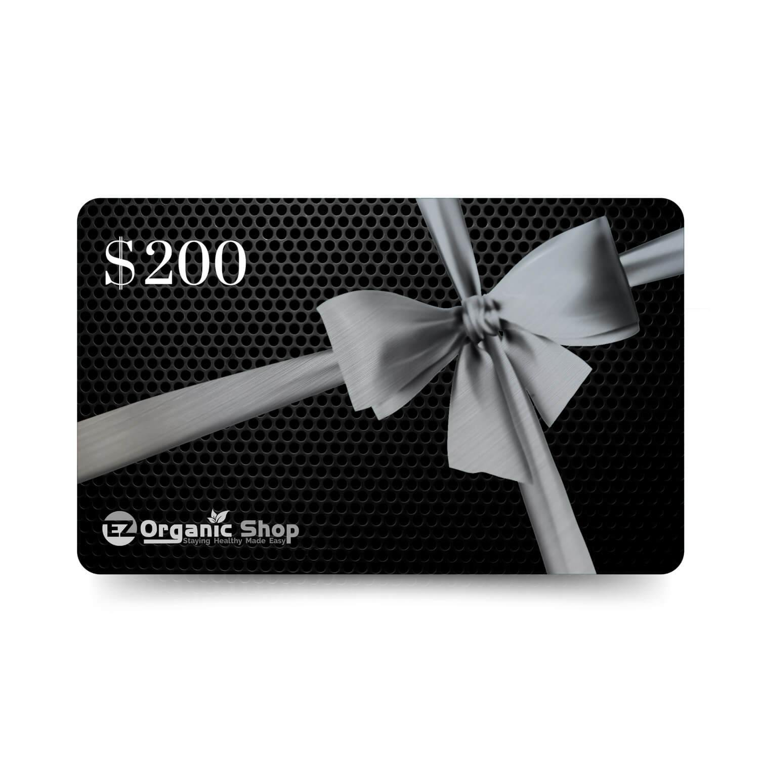 EZ Organic Shop $200 Gift Card - EZ Organic Shop