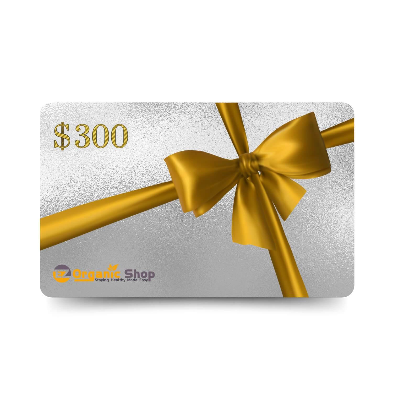 EZ Organic Shop $300 Gift Card - EZ Organic Shop