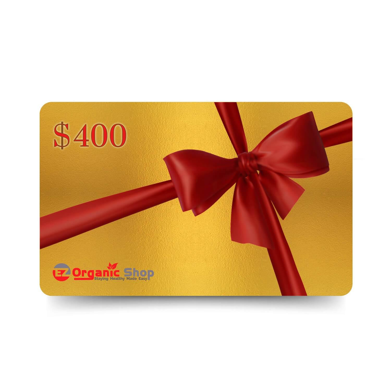 EZ Organic Shop $400 Gift Card - EZ Organic Shop