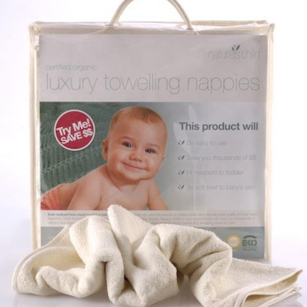 Nature's Child Luxury Towelling Nappies 6 pack