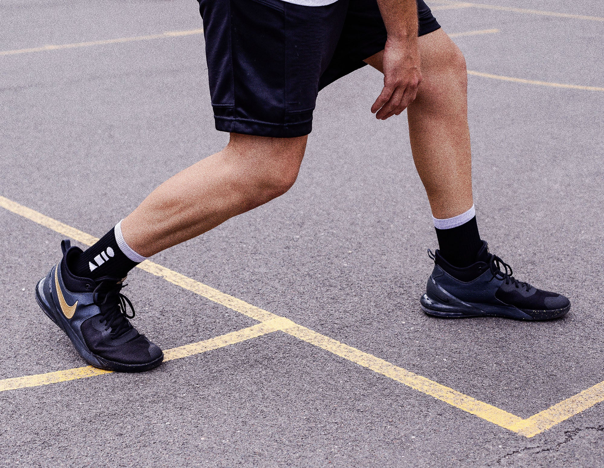 Clay Active's black sport and athletic sock is Australian made and perfect for the gym, training, basketball, tennis and soccer. Comfy, stylish sport socks.