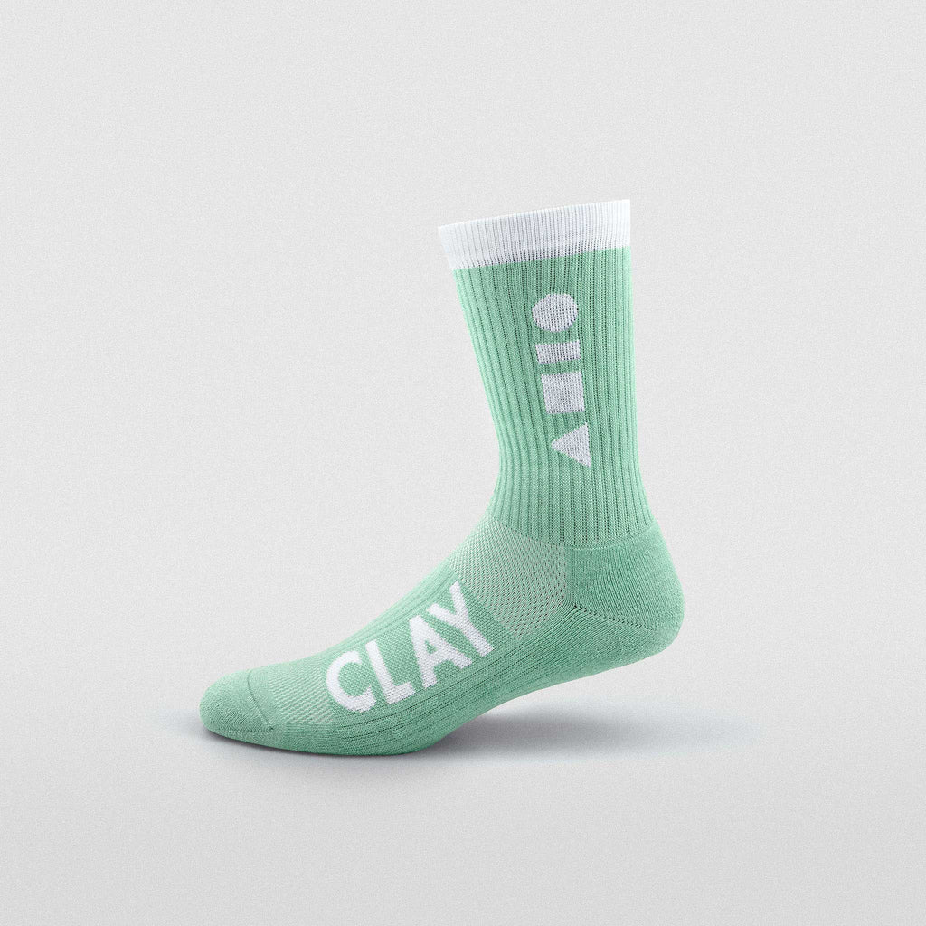Mint Clay Sport Sock