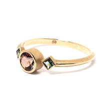 Load image into Gallery viewer, Andalusite and Tourmaline Gold Ring