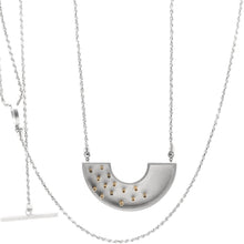 Load image into Gallery viewer, Colander Necklace with 14 Gold Tubes