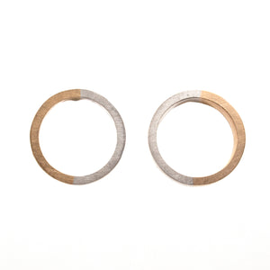 Gold and Silver Circle Studs