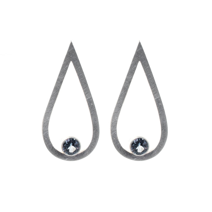 Grey Spinel Drop Studs