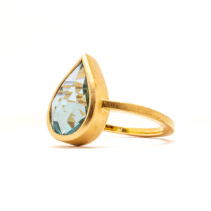 Sky Blue Topaz Gold Ring