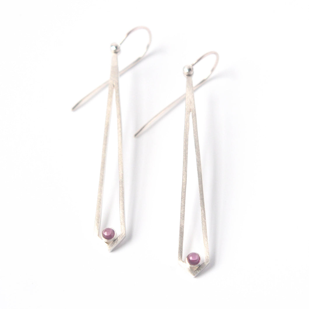 Rhodolite Garnet Dangly Earrings