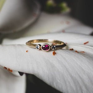 Ruby and Spinel Gold Ring