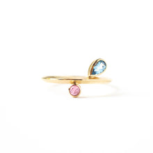 Load image into Gallery viewer, Aquamarine and Tourmaline Ring