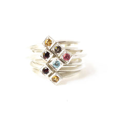 Load image into Gallery viewer, Citrine Cube Ring