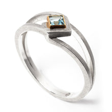 Load image into Gallery viewer, Double Sky Blue Topaz Silver Ring