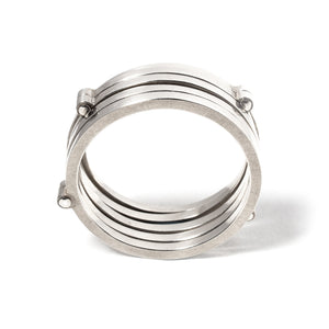 Riveted Stack Ring
