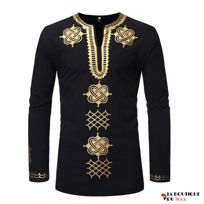 Chemise Africaine de coupe slim col tendance
