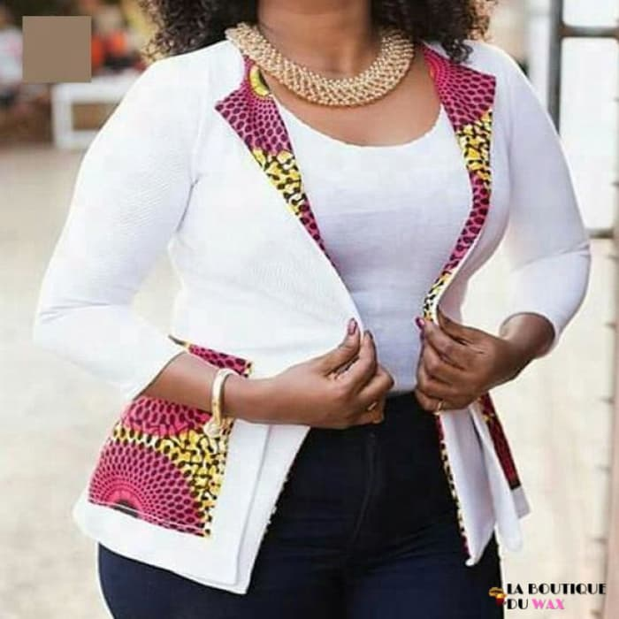 Veste Africaine Business Blanche