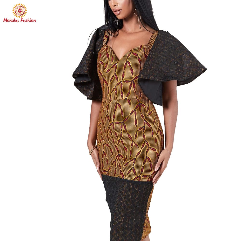 New popular kitenge dresses african print women Competitive Price