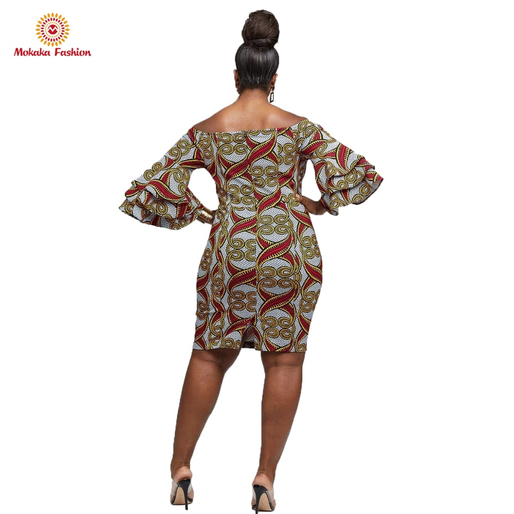 2020 New african gay dress flower dresses flared with high quality