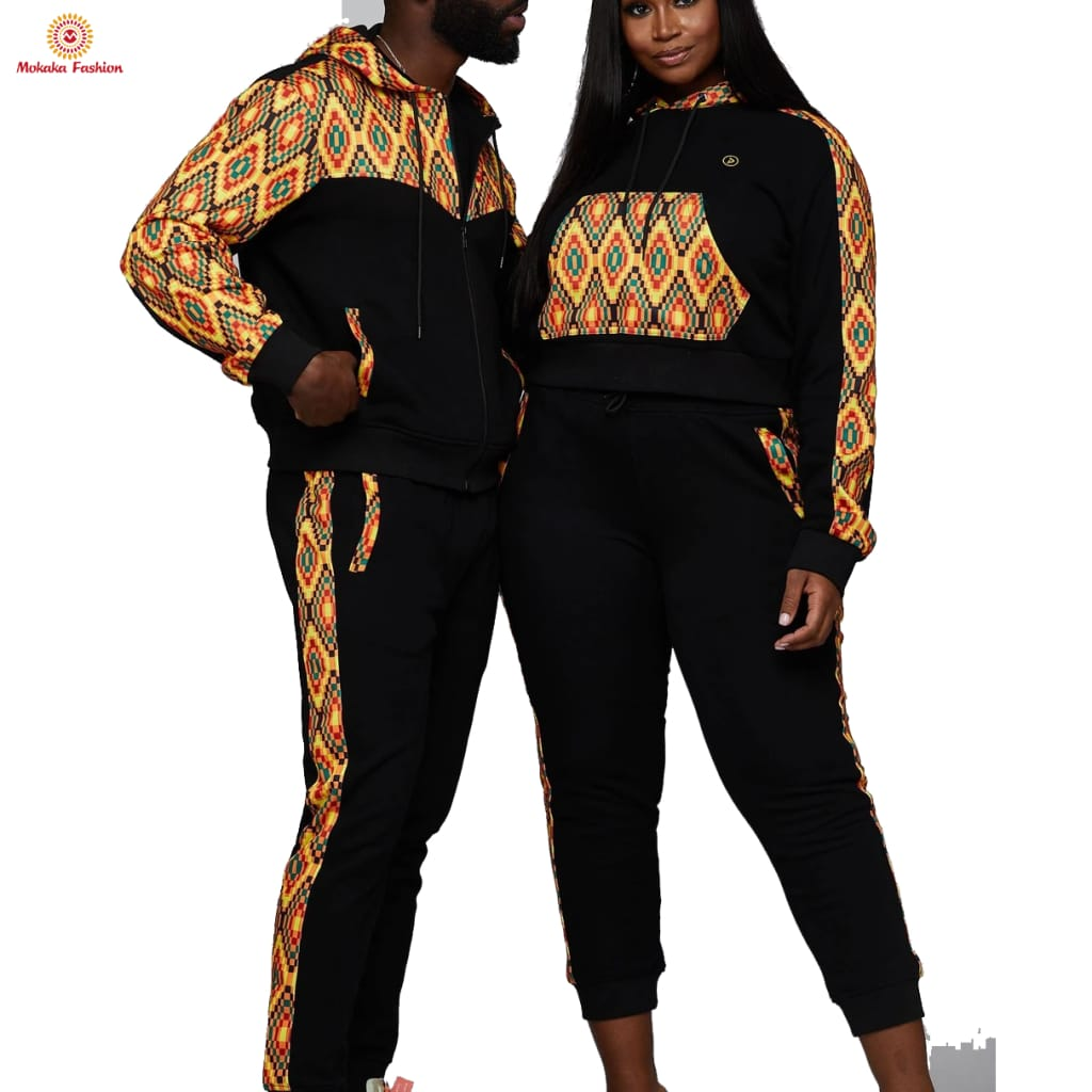 Factory direct selling african print sweat suit for men ladies jackets wear dashiki shirts sale