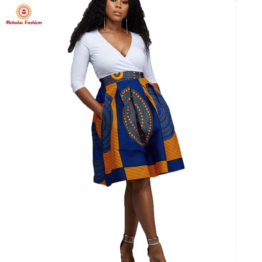 New design short african skirt red skirts dashiki with high quality