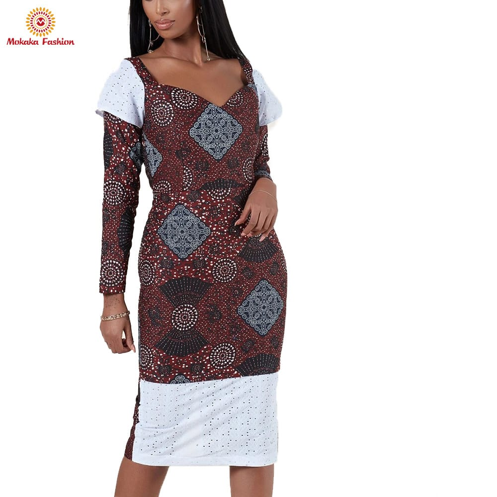 Hot sale factory direct kitenge dresses designs for ladies africa clothing African women with high quality