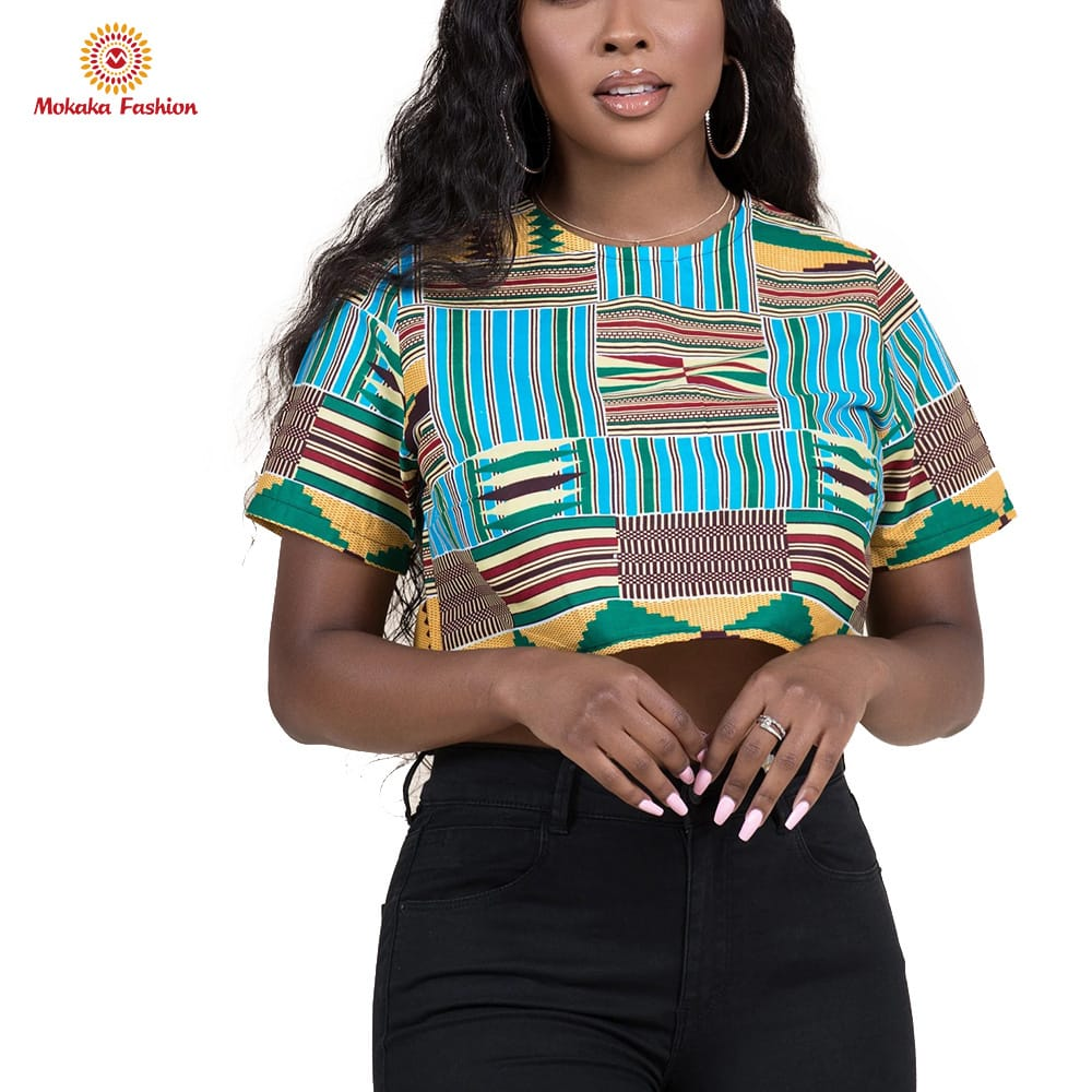 2020 fashion african women tops print clothing woman Lowest Price