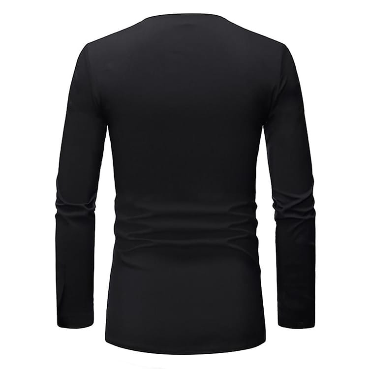 Hot Summer New T-Shirts For Men African Style Stitched Summer Blouse Printing Long Sleeve T Shirt For Men