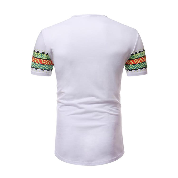 Hot Style Men'S Large Size African Print T-Shirt Top And Round Neck Printing Shirt Short Sleeve T Shirt Men
