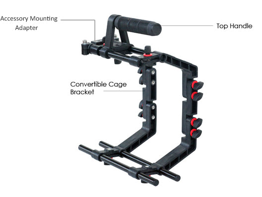 Filmcity DSLR Camera Cage Shoulder Rig Kit