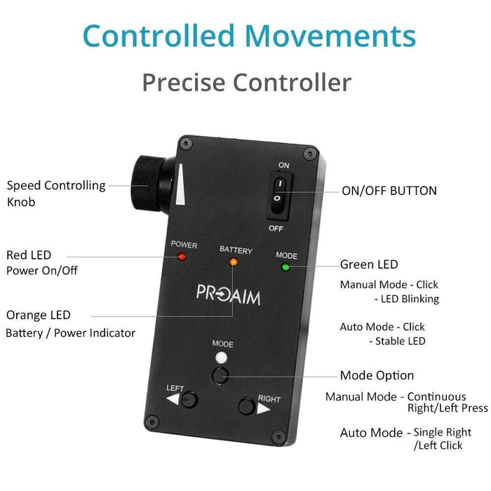 Proaim 3ft Curve-N-Line  Video Camera Slider with  Motion Control System