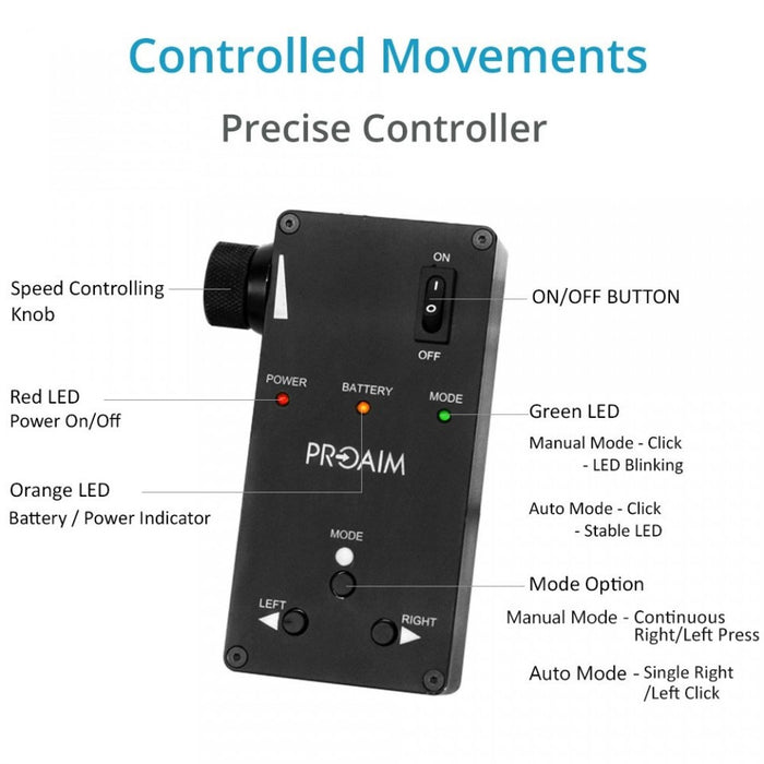 Proaim 2ft Curve-N-Line  Video Camera Slider with  Motion Control System