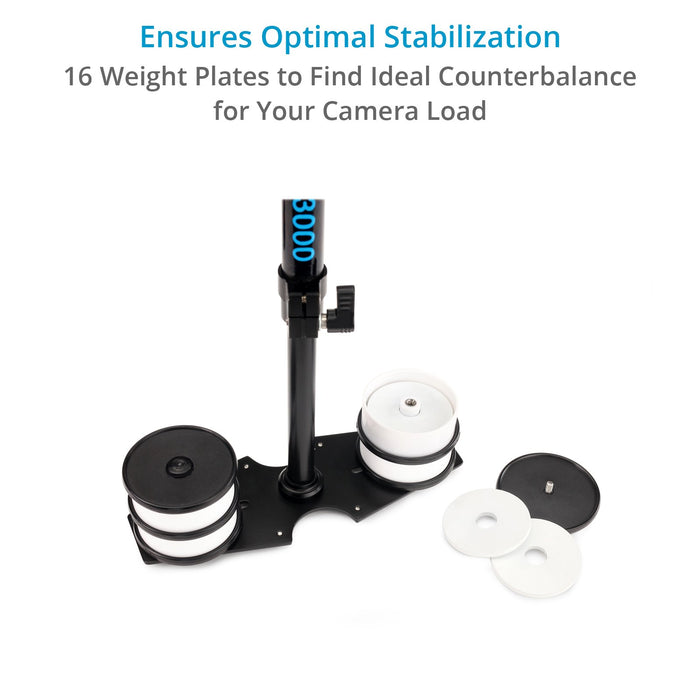 Flycam 3000 Handheld Stabilizer with Arm Brace for DSLR Video Camera