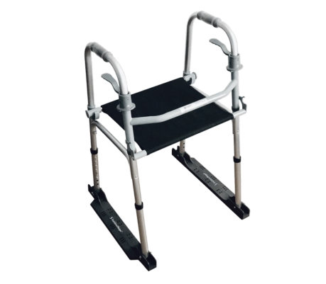 The Stabilizer with a seat - Walker Included (Rubber Pads) - Stability & Fall Prevention Tool