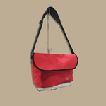 Load image into Gallery viewer, Logo Messenger Bag (Red)