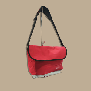 Logo Messenger Bag (Red)