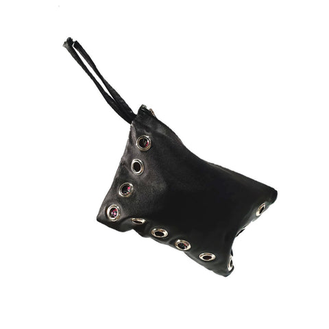 Clutch bag with eyelets (Black)