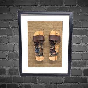 Framed artwork ( Pop out clogs )