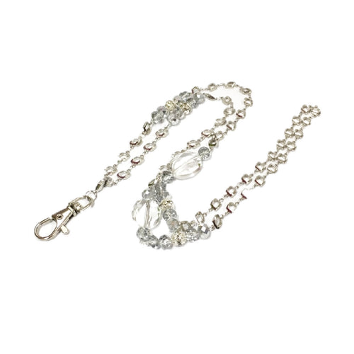 Handmade diamond inspired chain lanyard