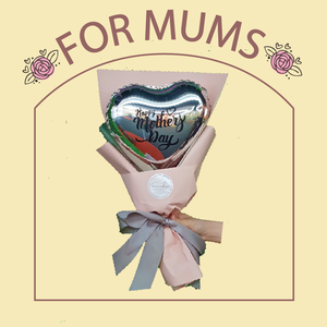 Happy Mother's Day Balloon Bouquet (silver)