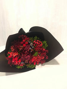 Everlasting dried flowers - Cardinal Red Bloom (Imported)