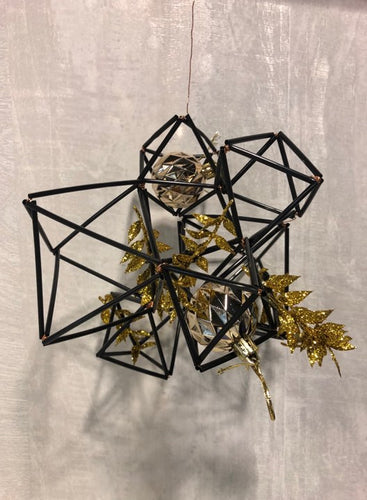 Himmeli Decorative Ornament - Golden leaves (Only available online!)