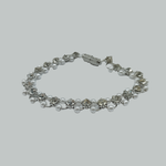 Load image into Gallery viewer, Crystal-Inspired Silver Bracelet
