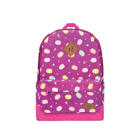 Macaron School Backpack (Purple)