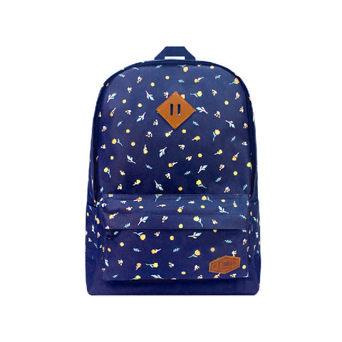 Little Florals School Backpack (Navy Blue)