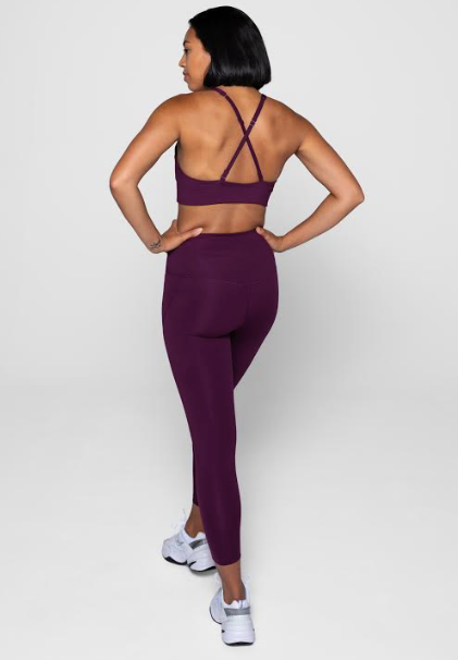girlfriend collective high-rise plum compression legging